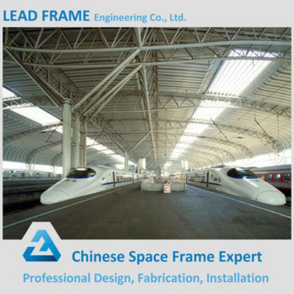 Professional Design steel structure space frame for train station #1 image