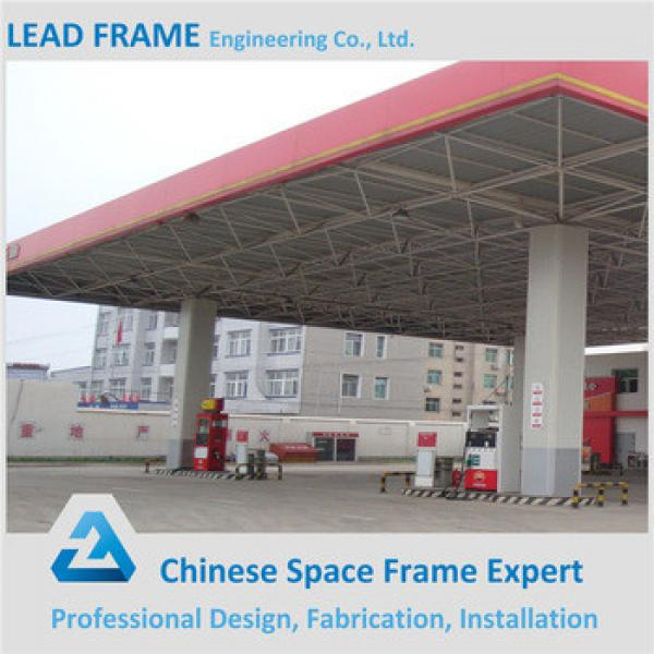Light Prefab Space Grid Steel Frame Gas Filling Station With SGS Test #1 image
