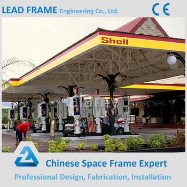 Pre-engineering steel structure petrol station roof #1 image