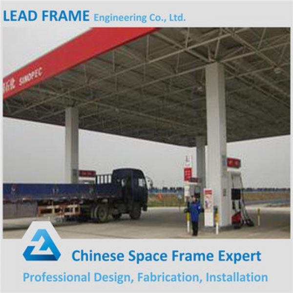 Galvanized And Painted Steel Frame Structure Gas Filling Station #1 image