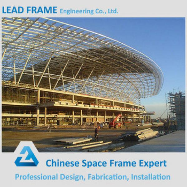 Welded steel ball space frame for airport terminal #1 image