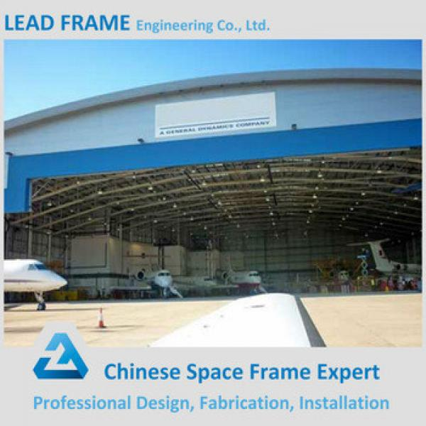 Private design light steel structure airplane hangar #1 image