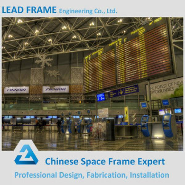 customized ball-joint space frame airport roof structure #1 image