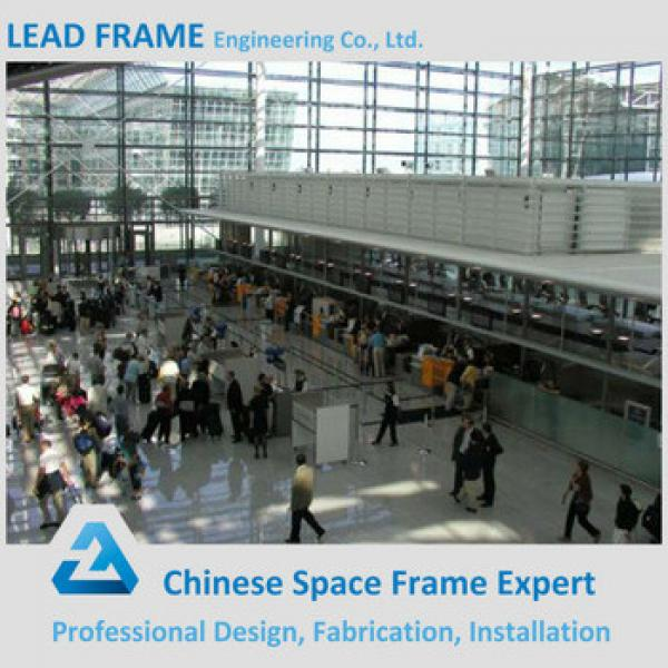 Customized Light Steel Truss Space Frame Waterproof Roofing Airport Terminal #1 image