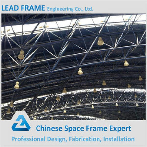 Red Color Steel Space Frame Long Span Roof Prefabricated Hall #1 image