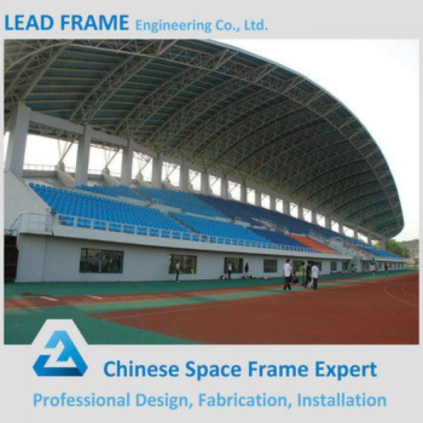 Light weight steel truss stadium bleachers canopy roof #1 image