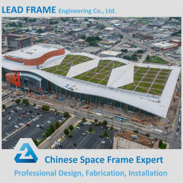 Firm steel space frame structure prefabricated conference hall #1 image