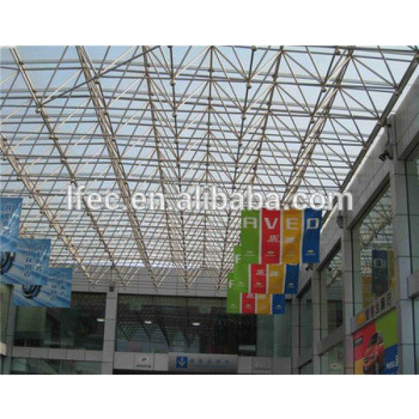 Beautiful Outside And Insider Space Frame Structure Conference Hall Insulated Aluminium Roof Material #1 image