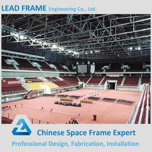 Windproof Corrugated Light Steel Space Frame Football Stadium #1 image