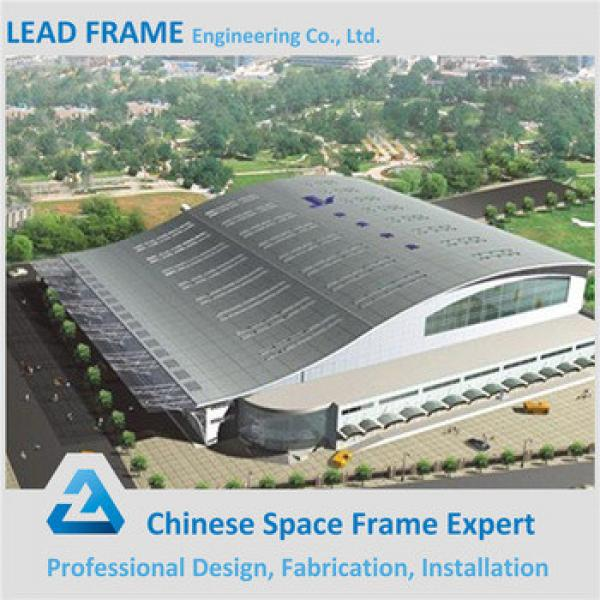 Galvanized steel long span space frame football stadium #1 image