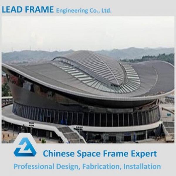 Fast installation football stadium space frame truss roof #1 image
