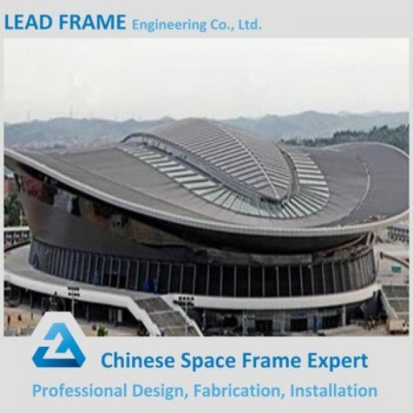 Stadium Prefab Lightweight Space Frame Steel Roofing Shed #1 image