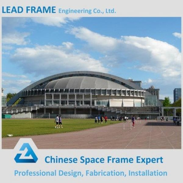 Elegant appearance light steel space frame football stadium #1 image
