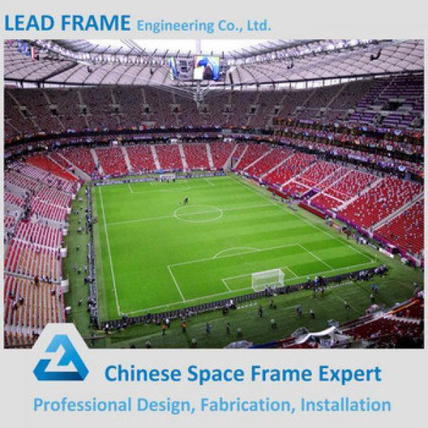 fast installation space frame prefabricated steel truss stadium #1 image