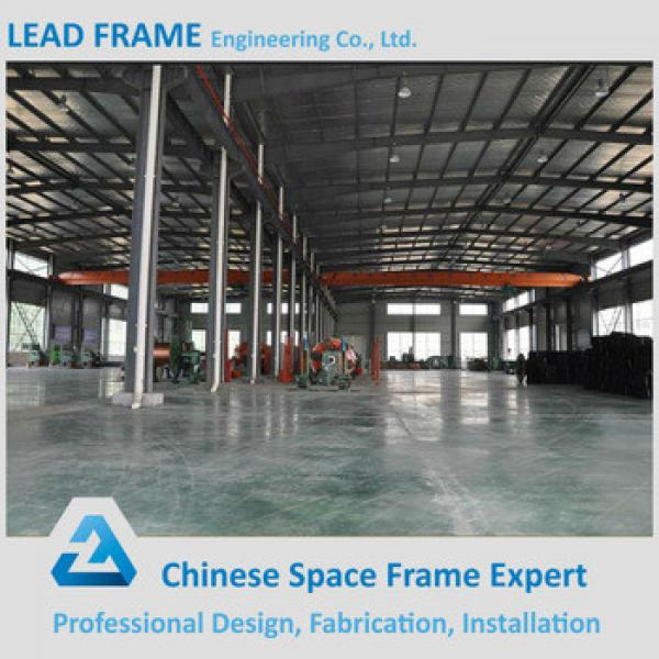 Outdoor Galvanized Prefab Steel Frame Workshop with Large Span Roof #1 image