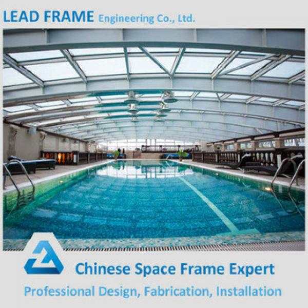 Irregular Shape Steel Roof Trusses Prices Swimming Pool Roof #1 image
