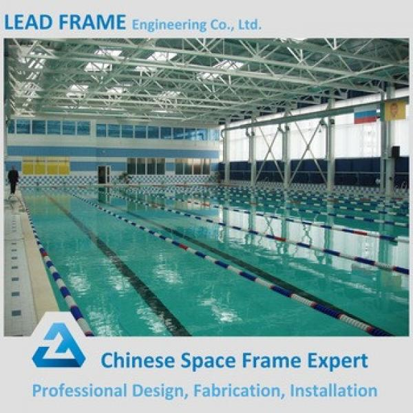Light Weight Steel Swimming Pool With Clear Skylight Roof Cover #1 image