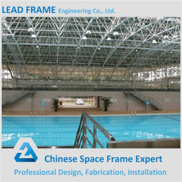 prefab wide span space frame for swimming pool #1 image
