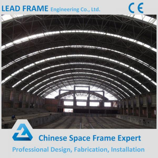 Prefabricated Building Construction Arched Swimming Pool Roof #1 image