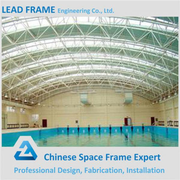 Cost-effectibe Space Frame Light Steel Structure Swimming Pool Canopy #1 image