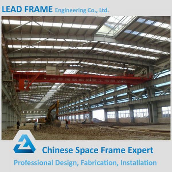 Galvanized Lightweight Prefab Steel Frame Workshop with Sandwich Panel Cladding #1 image