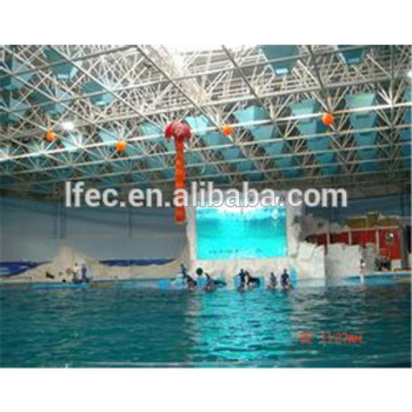 Outdoor Big Size Clear Glass Roof Steel Frame Swimming Pool Cover #1 image