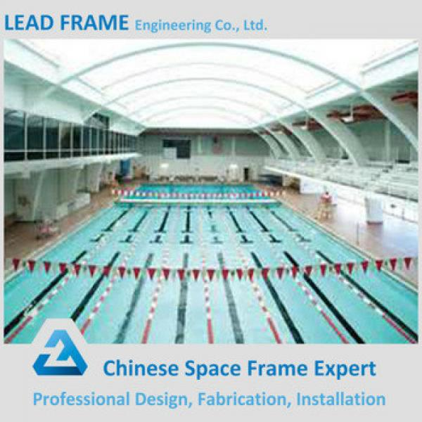 Prefabricated Steel Truss Structure Long Span Pool Cover With Frame #1 image