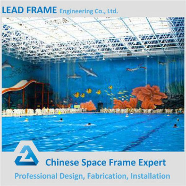 prefabricated space frame ball for swimming pool roofing #1 image