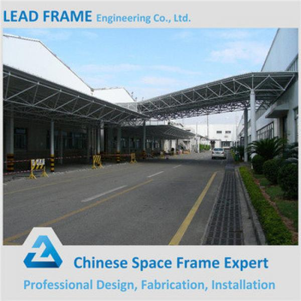 Gray Color Space Frame Prefabricated Steel Building #1 image