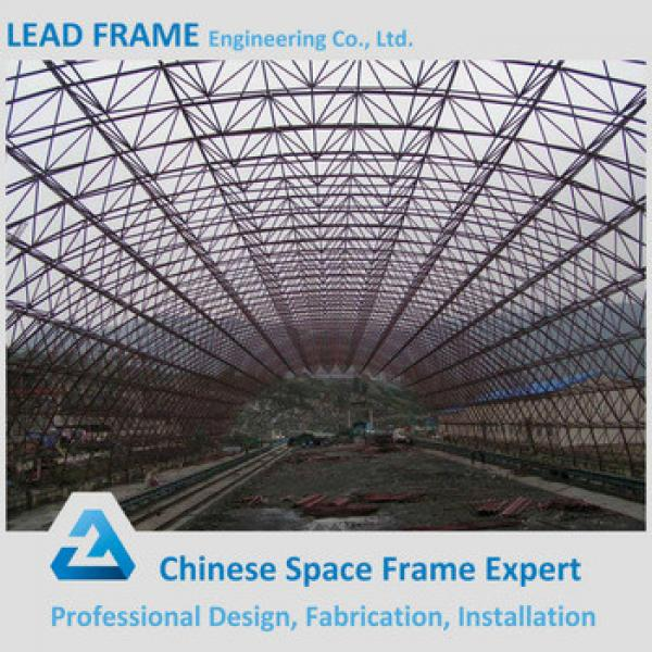 Space Grid Frame Construction Steel Arched Roof for Coal Storage #1 image