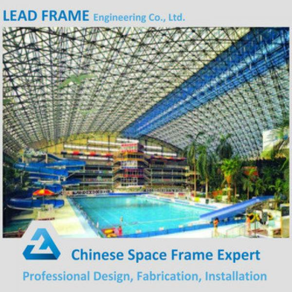 Gray Color Steel Roof Trusses Prices Swimming Pool Roof #1 image