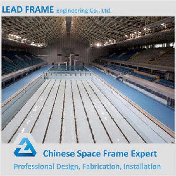 Customized Size Steel Roof Trusses Prices Swimming Pool Roof #1 image
