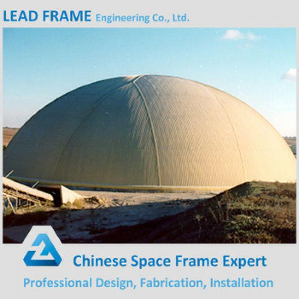 Hot dip galvanized steel space frame dome coal storage #1 image
