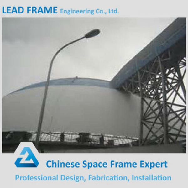 Prefab light steel space frame dome coal storage #1 image
