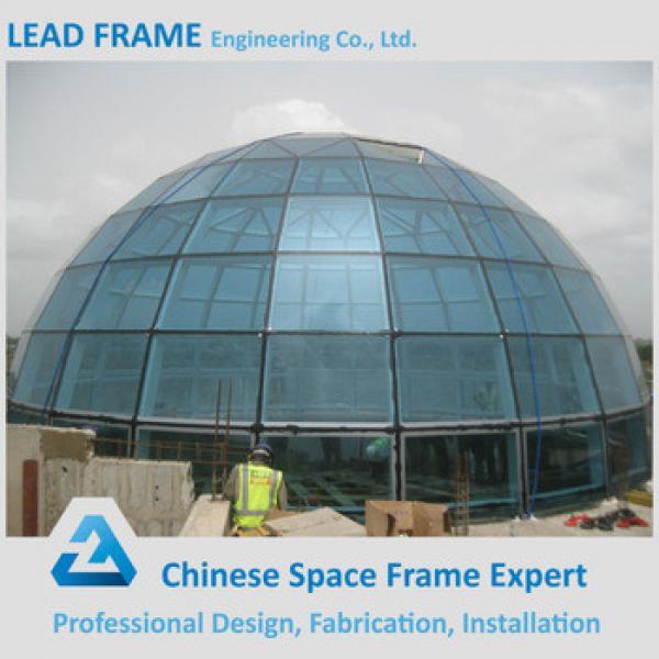 columnless prefab light steel frame structure large domes glass #1 image