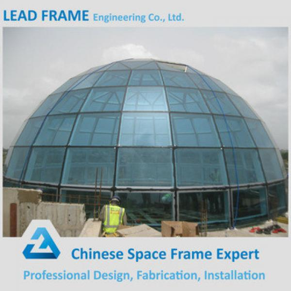 Manufacture Steel Structure Prefabricate building glass dome #1 image