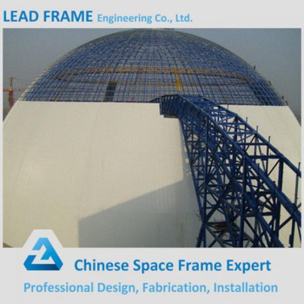 Galvanized Steel Leadframe Made Dome Coal Yard Prefabricated Steel Roof Frame #1 image