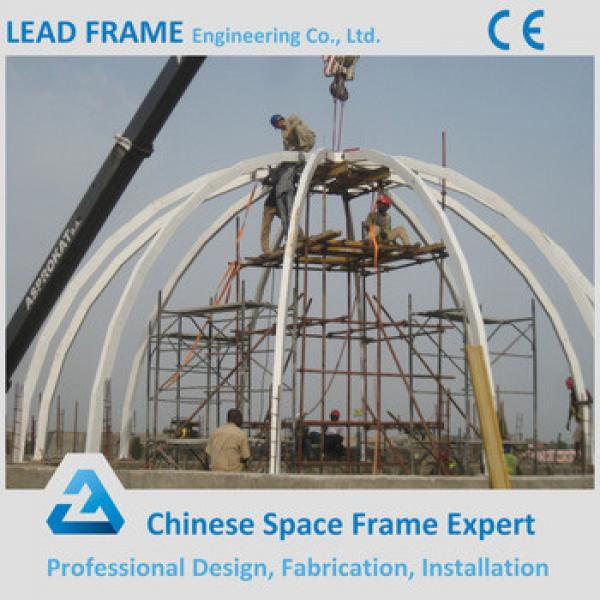 Flexible Modern Design Steel Structure Space Framed Acrylic Dome with Glass Roof #1 image