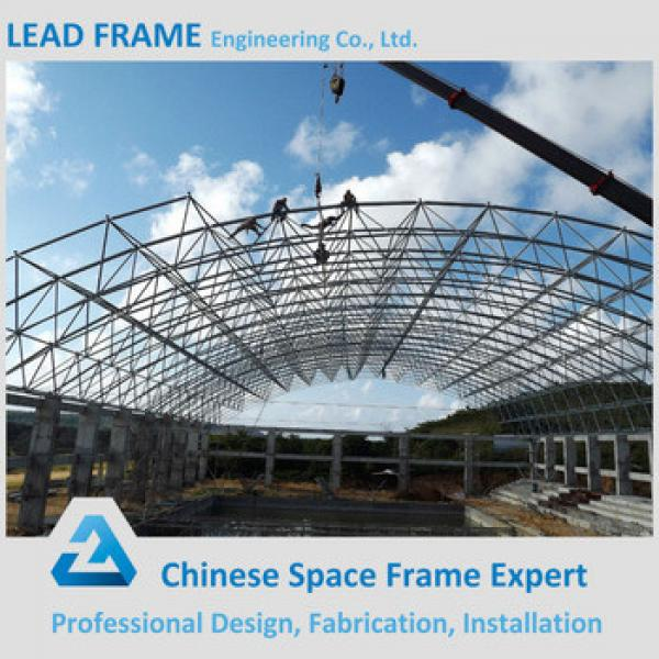 Economical space frame structure swimming pool roof cover #1 image