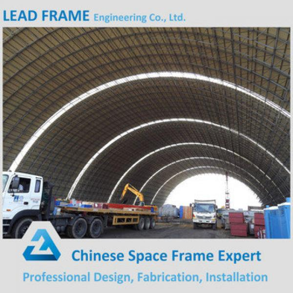 Prefabrication Large Span Frame Roof Truss Barrel Dry Coal Storage Shed for Power Plant #1 image