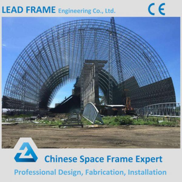 durable steel structure anti wind coal shed space frame roof #1 image