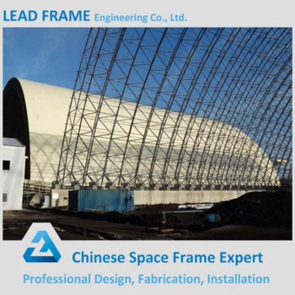 Prefabricated Space Grid Steel Arch Roof for Coal Shed #1 image