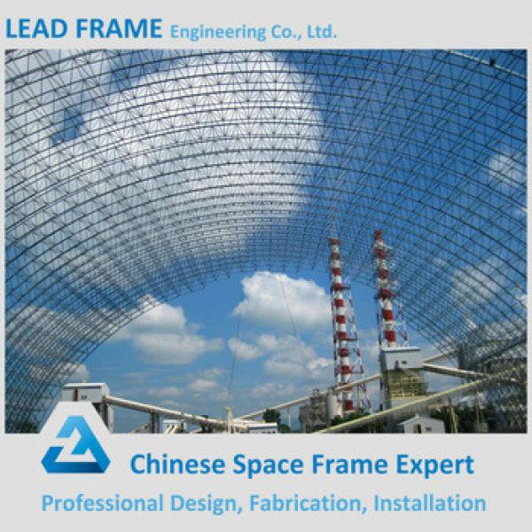 Prefab Light Steel Space Frame Arch Roofing Truss for Coal Storage #1 image