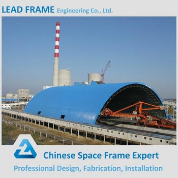 Prefabricated steel space frame building for coal storage #1 image