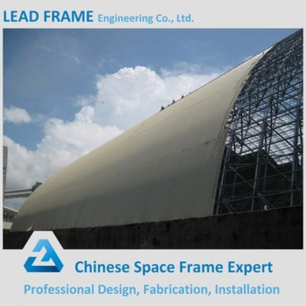 Prefabricated coal storage shed steel roof truss design #1 image