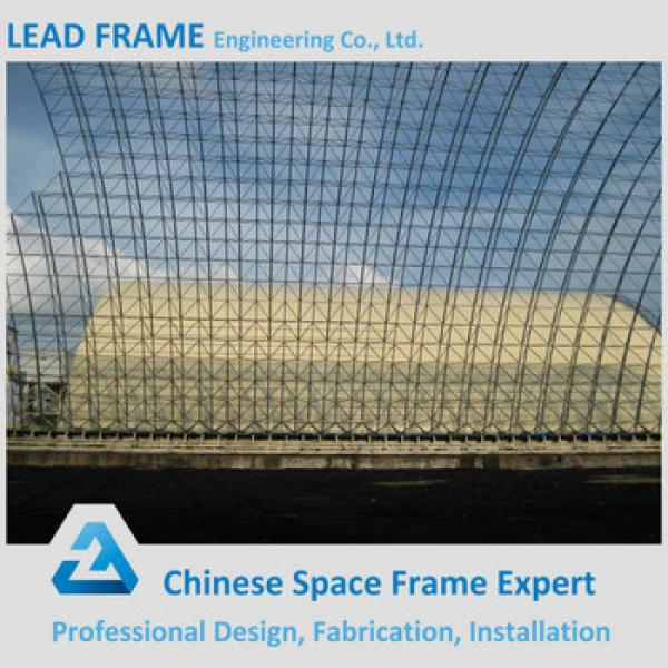 Low price steel space frame structure for coal storage shed #1 image
