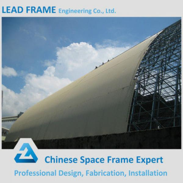 Light weight steel space frame dome storage building for coal yard #1 image