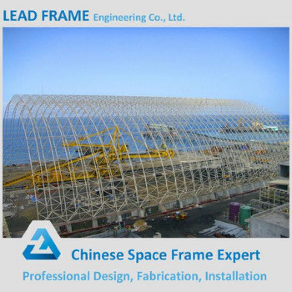Professional Design Steel Space Frame Structure Arched Dry Coal Shed #1 image