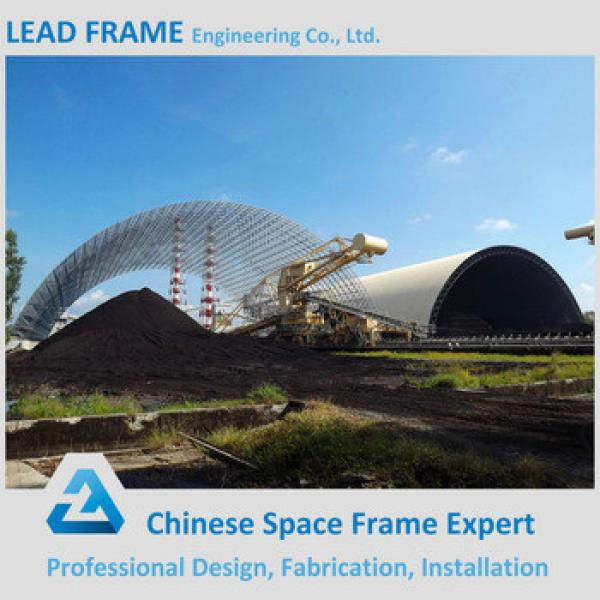 Prefabricated Galvanized Steel Space Truss Structure Coal Shed #1 image