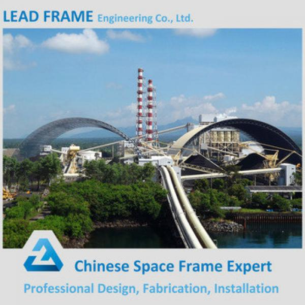 prefabricated steel space frame low cost thermal power plant #1 image
